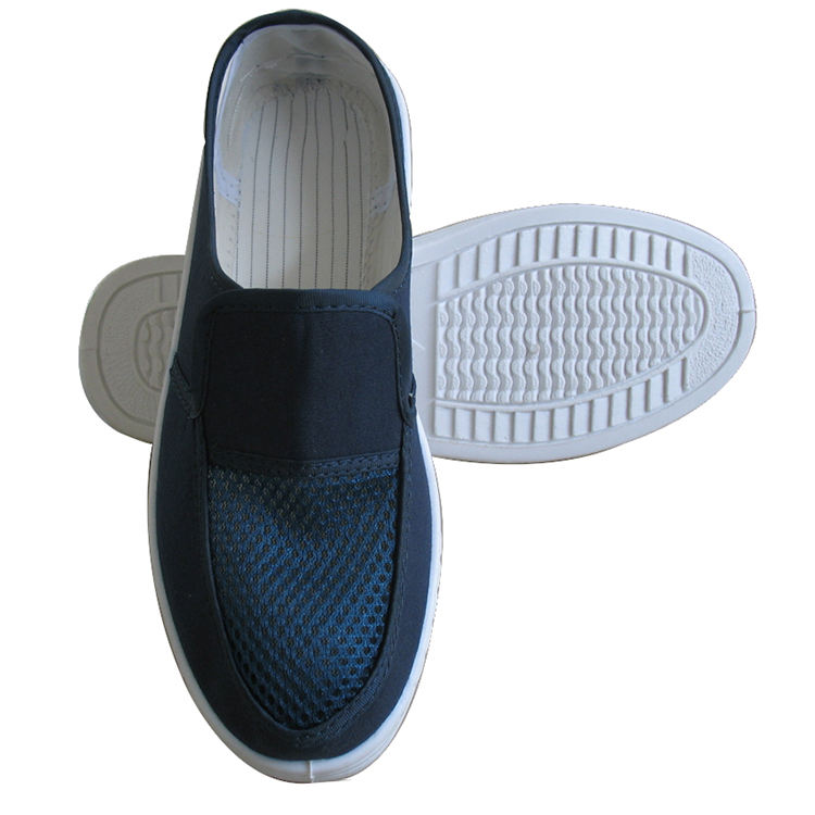 PVC single mesh esd cleanroom safety shoes/esd shoes anti static shoes esd work shoes/esd canvas shoes