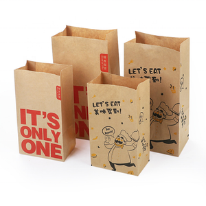 10XFood-Grade Kraft Paper Gift Bag Crafts Packing for Food Snace and Bread In HK