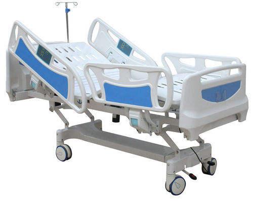 Cinco funciones de lujo cama de Hospital eléctrica cama de hospital, hojas de espuma de fabricante en gujarat
