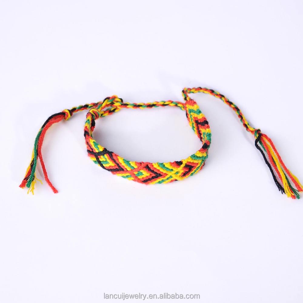 Tissé à la main Bracelet D'amitié Bracelet Aztèque Motif Audacieux Moderne Coloré Bracelet Tressé