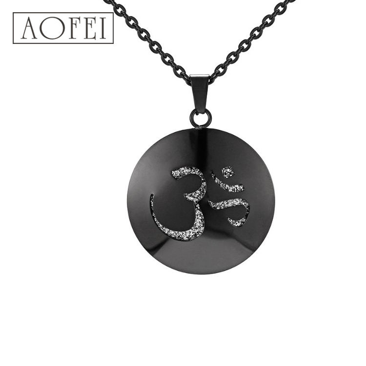 <span class=keywords><strong>Joyería</strong></span> de moda negro colgante collar de acero inoxidable medallón perfume