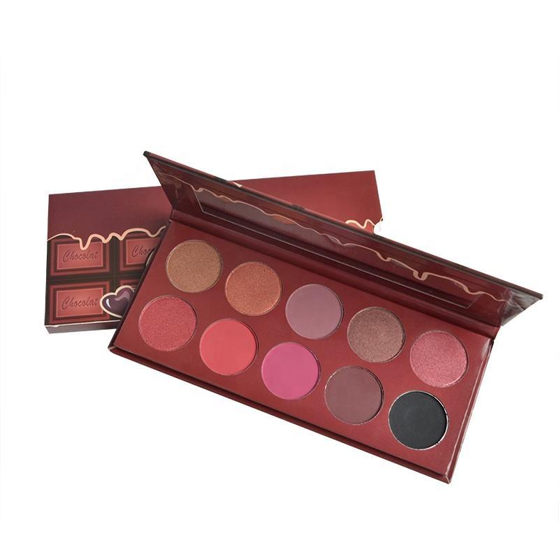 Importado al por mayor maquillaje 10 Color pigmento alta de cosméticos maquillaje paleta de <span class=keywords><strong>sombra</strong></span> de ojos