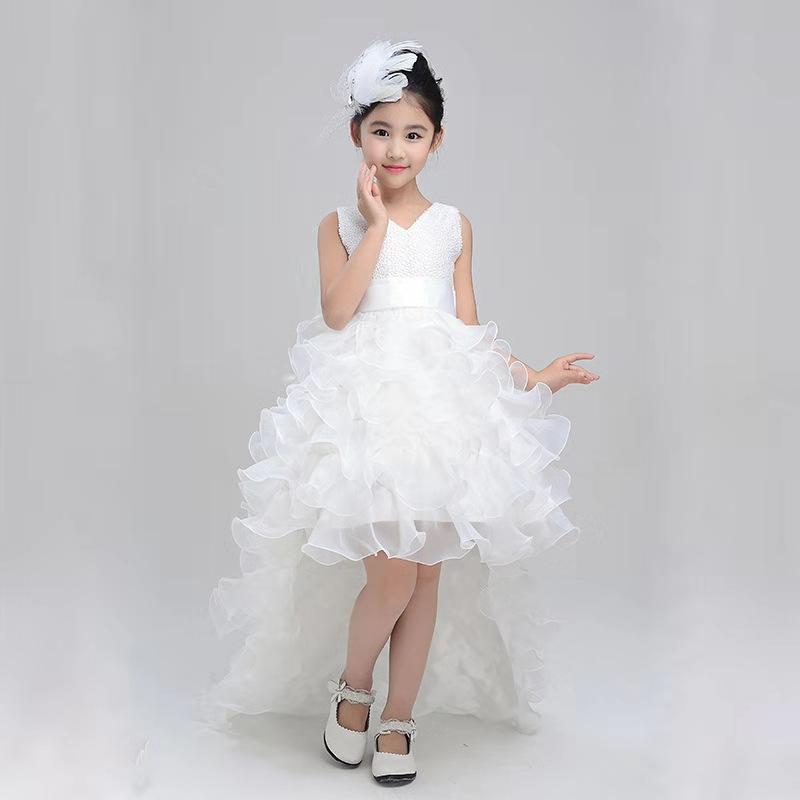 Формальная вечеринка платье дизайн элегантный съемный ласточкин хвост юбка детское свадебное платье