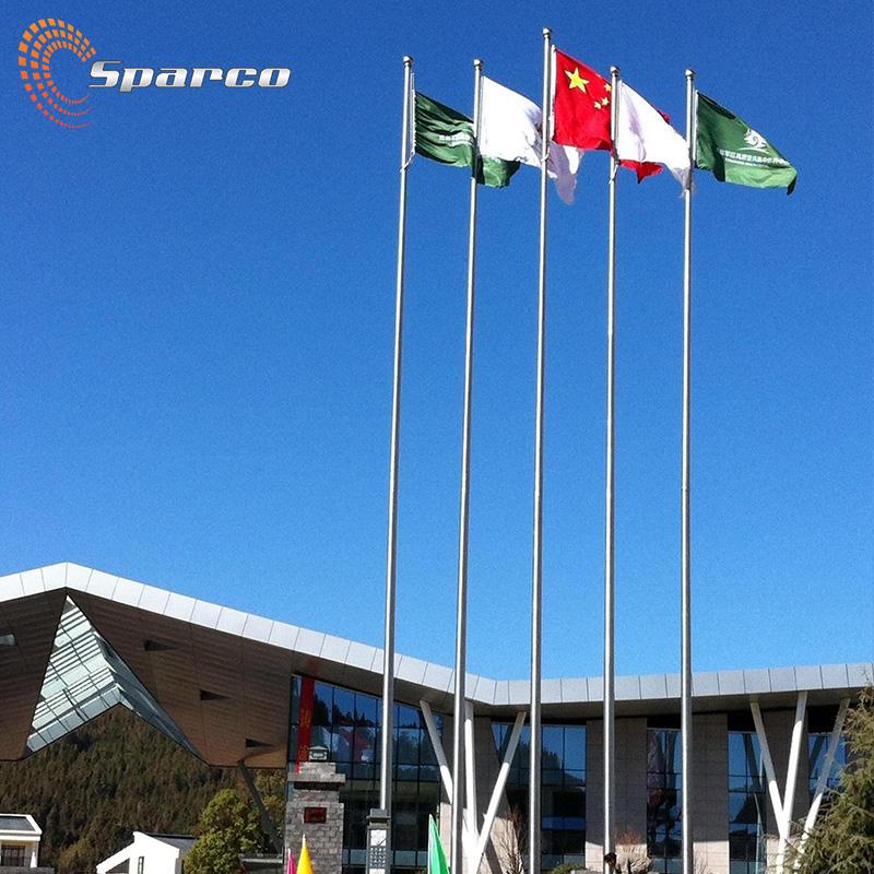 Sparco нержавеющий стальной столб для флага Полированный готовой металлическим верхом алюминиевый открытый 5 м Флагштоки