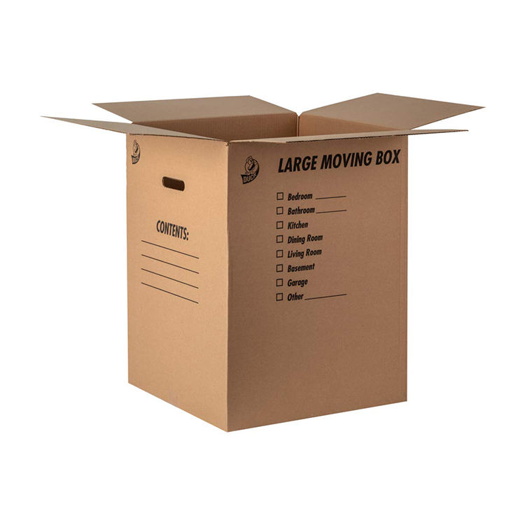 Marca Kraft envío caja de cartón corrugado