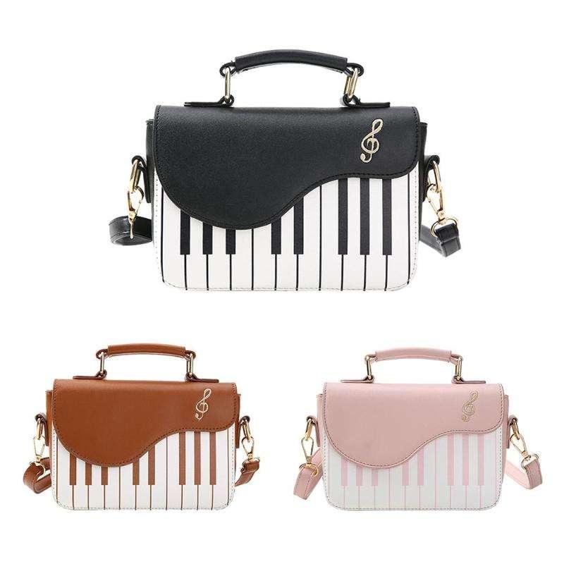 Пользовательские дизайнеры пианино узор Мода клапаном Crossbody сумка женская кожа сумки для женщин