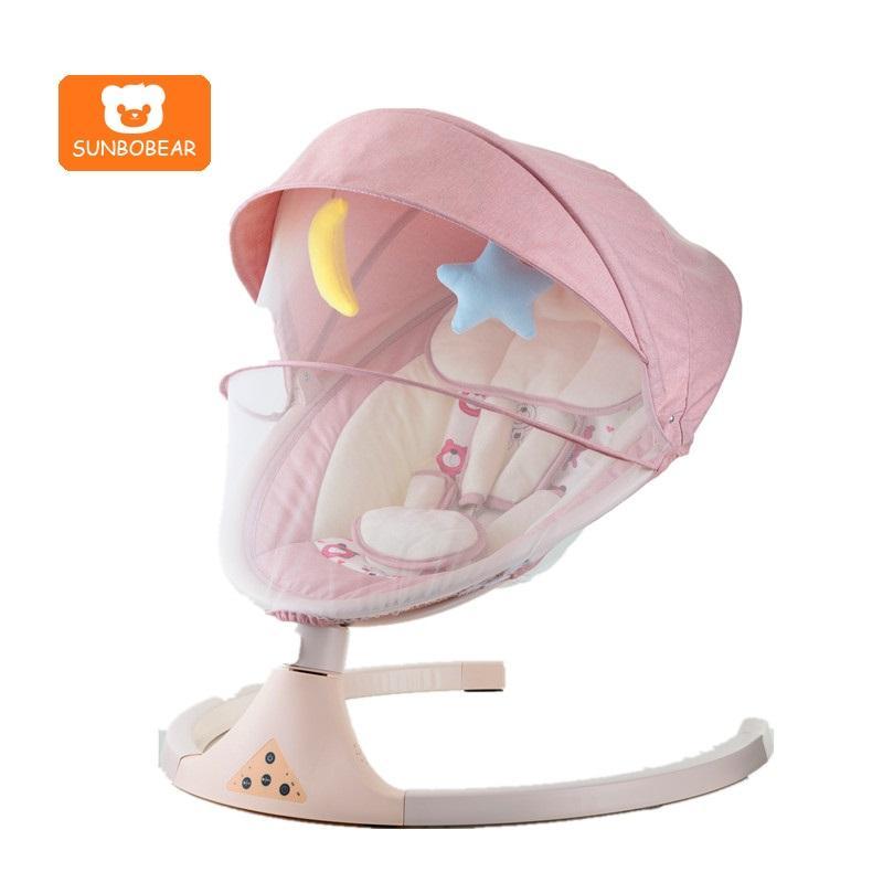 Bebé <span class=keywords><strong>cuna</strong></span> eléctrico Auto Silla de oscilación de dormir del bebé Rocker