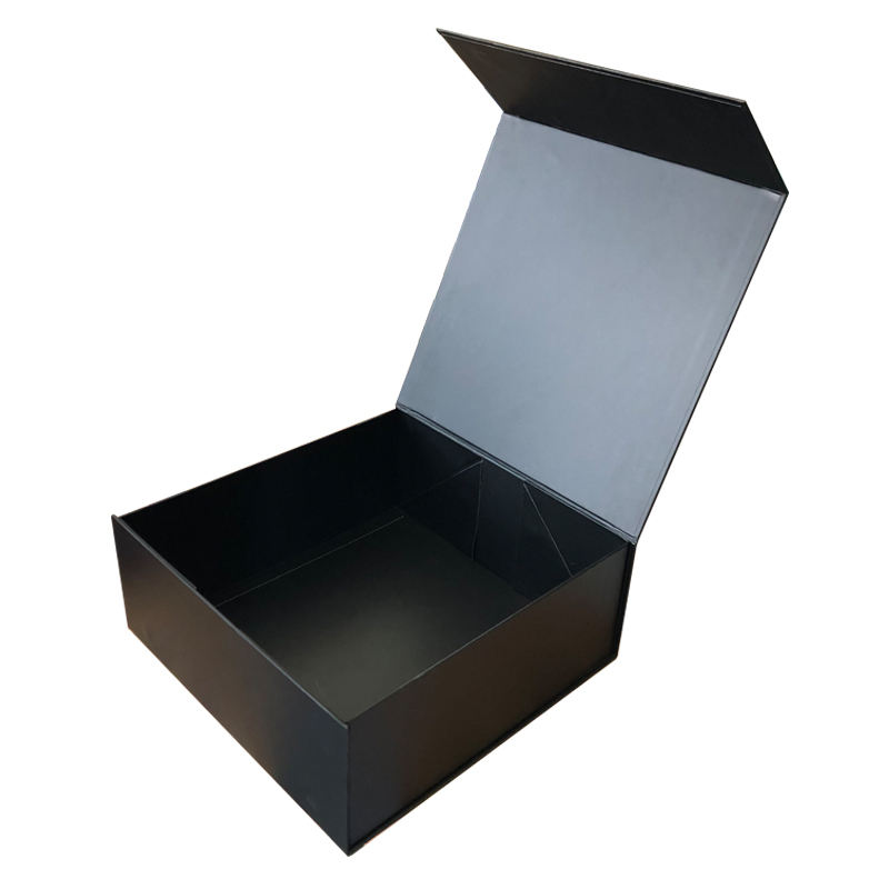 Folding Magnetic Gift Box Shoes Packaging with Lid for Men's Clothing Shirt Luxury Custom Logo Printing Flip Rigid Black Accept