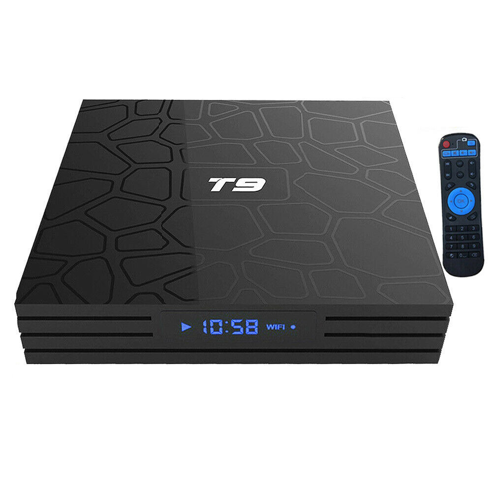 Shenzhen Private Label Internasional Universal Smart <span class=keywords><strong>Android</strong></span> Tv Box T9 Pro 4 K 4 Gb 32 Gb Jaringan Set-Top Box Media Player