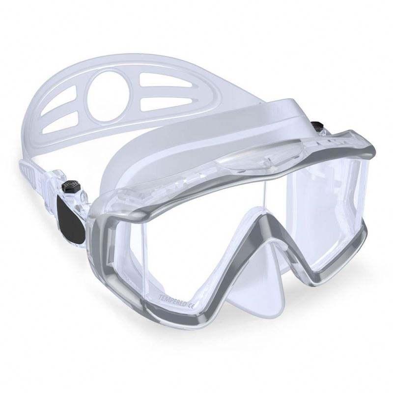 ネオプレン組成ダイビングマスク、水中狩猟、鼻プロテクターとヘッドストラップ