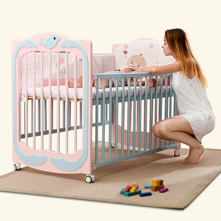 Design luxury cot baby's solid wood adult buy co-sleeper baby crib cot bed