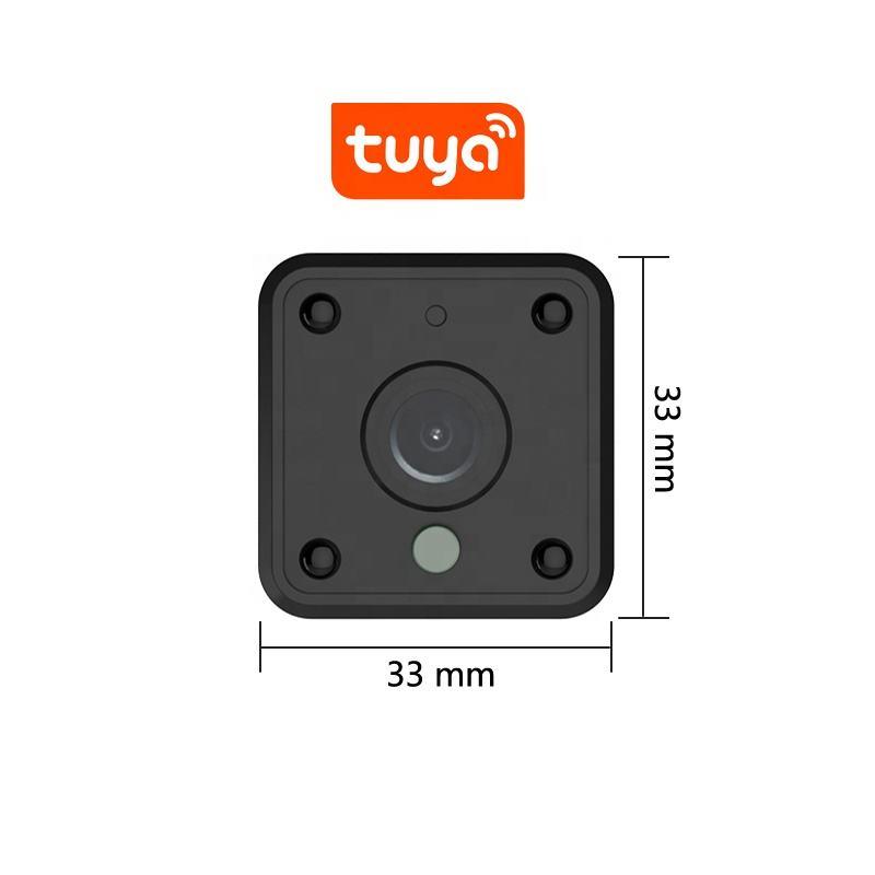 Tuya wifi sans fil caméra cachée petit numérique de sécurité <span class=keywords><strong>cctv</strong></span> caméra espion