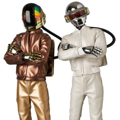 Medicom Daft Punk: Guy-Manuel Real Action Heroes Figure DISCOVERY Ver.2.0 Light Action Figures