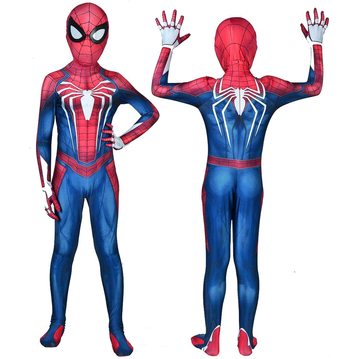 Kids Spiderman Costume 3D Print Spider Game PS4不眠症Spiderman Cosplay Bodysuit Halloween Zentai Suit