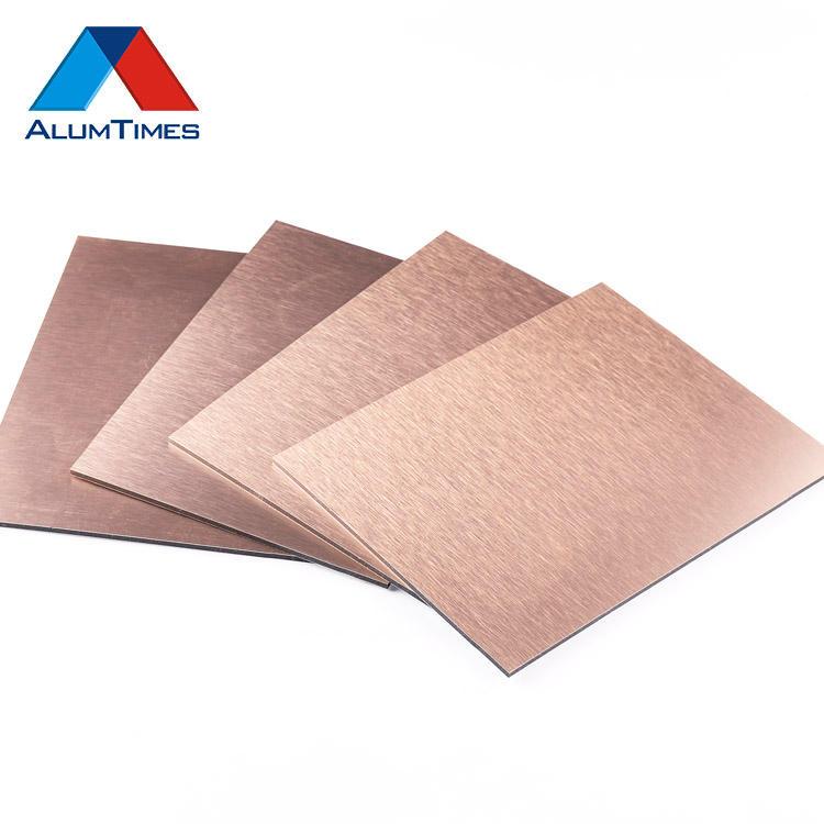 Alucobond aluminium-verbundplatten gebürstet edelstahl