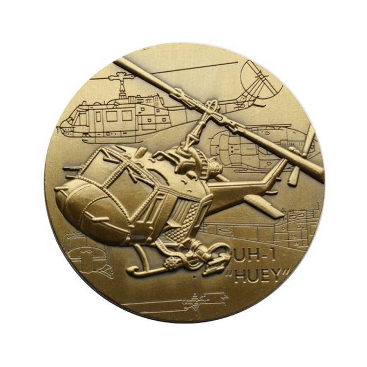 encargo 3D grabado de aleación de zinc de color latón esmalte de metal antiguo oro monedas de desafío EE. UU. ÁGUILA moneda de p