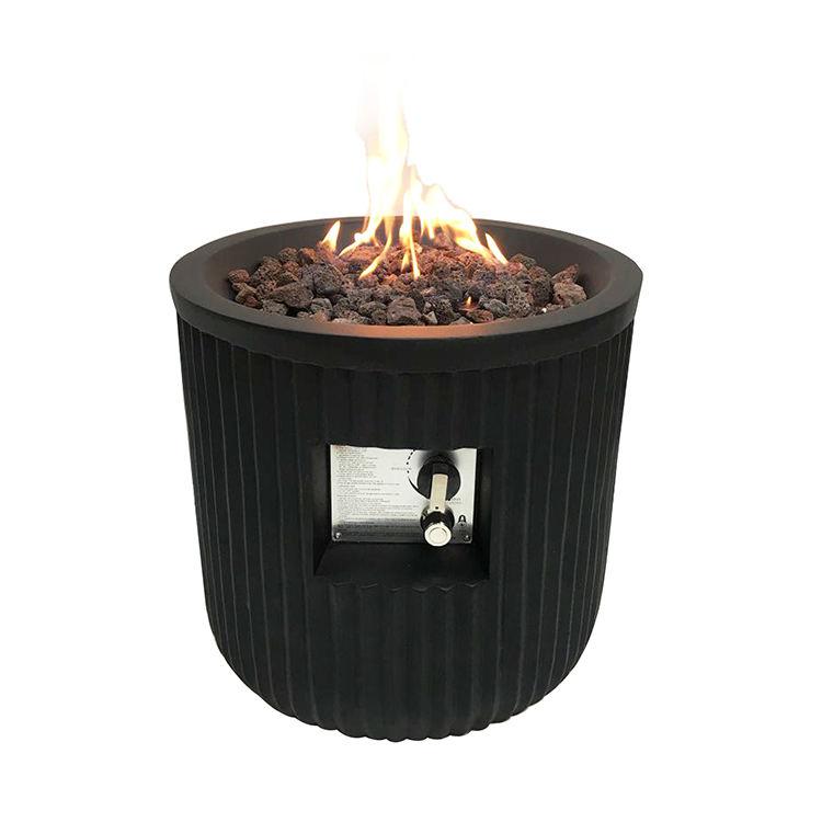 Vuelos de 20 pulgadas de interior y al aire libre Camping sin humo negro <span class=keywords><strong>Mini</strong></span> cuenca en forma de Gas pozos de fuego tazón