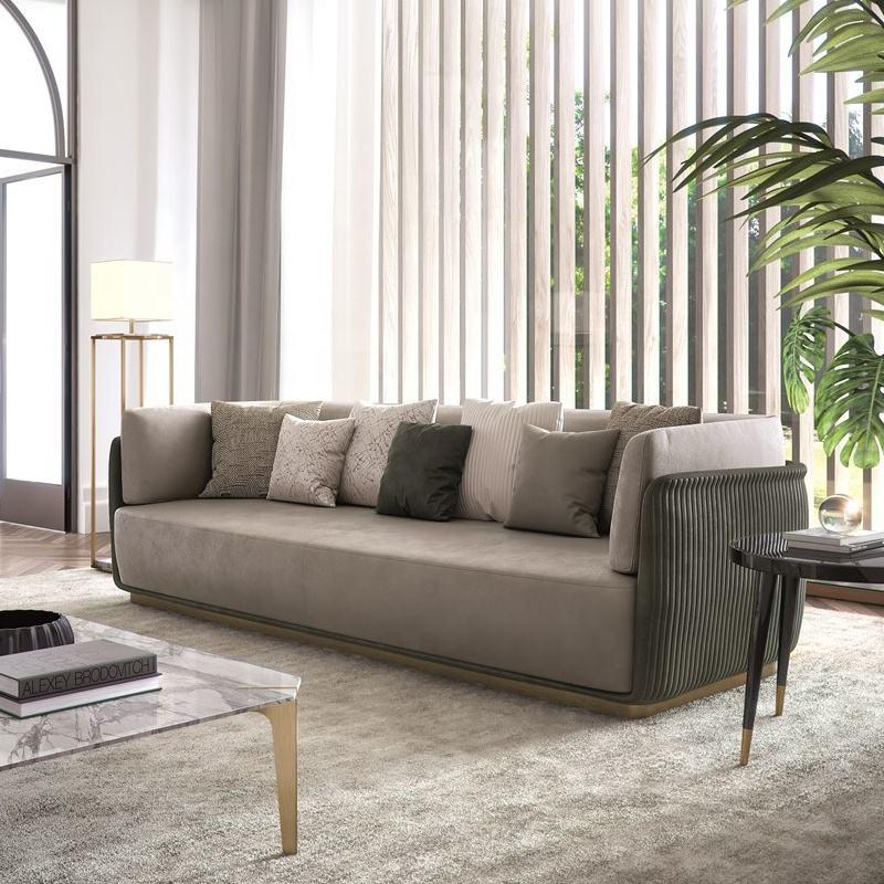 Lindo elegante Sala muebles de buena calidad, tela sofá