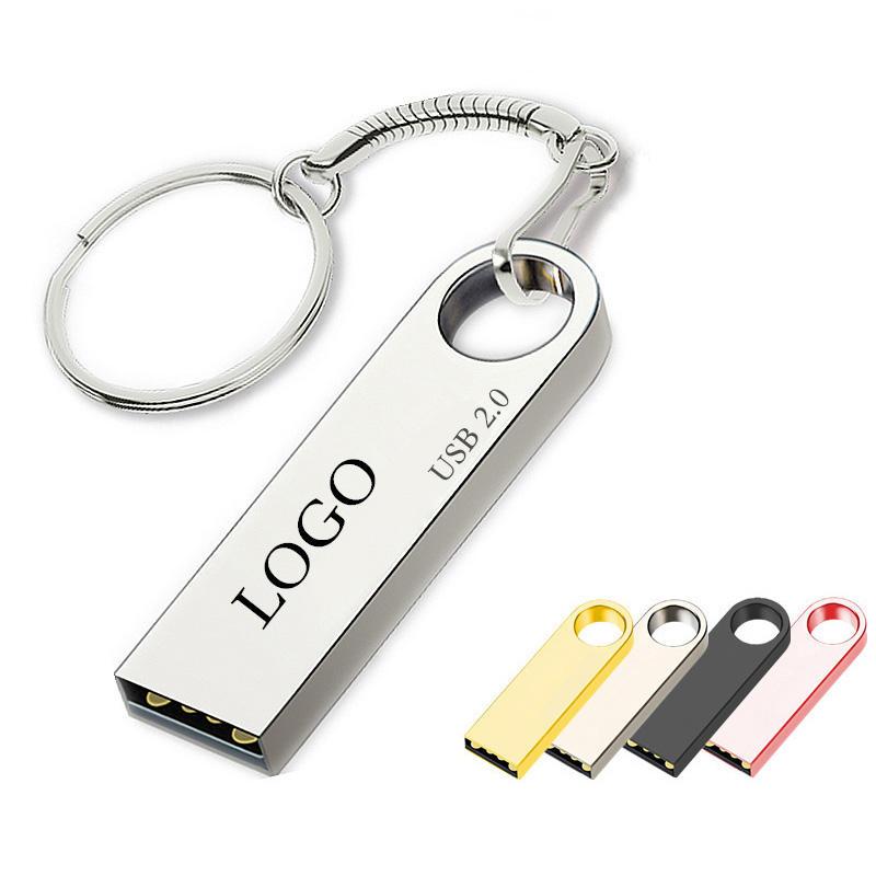 Logotipo personalizado USB Flash Drive usb 2,0/3,0 flash 64GB pen drive 2GB 4GB 8GB 16GB 32GB 128GB de Metal Pendrive