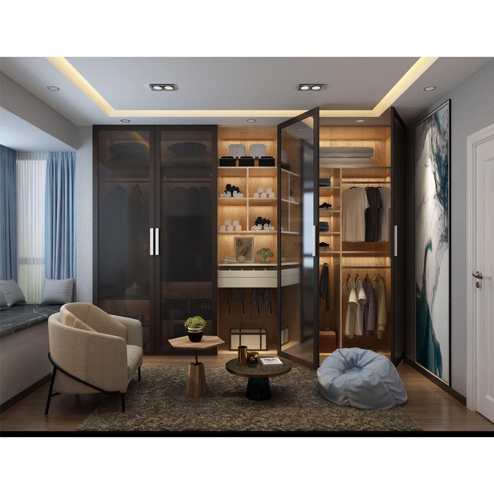 HS-301 almirah roupeiro <span class=keywords><strong>armários</strong></span> armário de madeira armário de vidro quarto real laminado projetos roupeiros