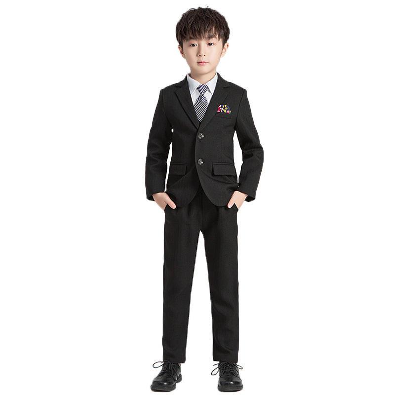 Nova moda 4 peças conjuntos formais cavalheiro roupa dos miúdos terno para o menino