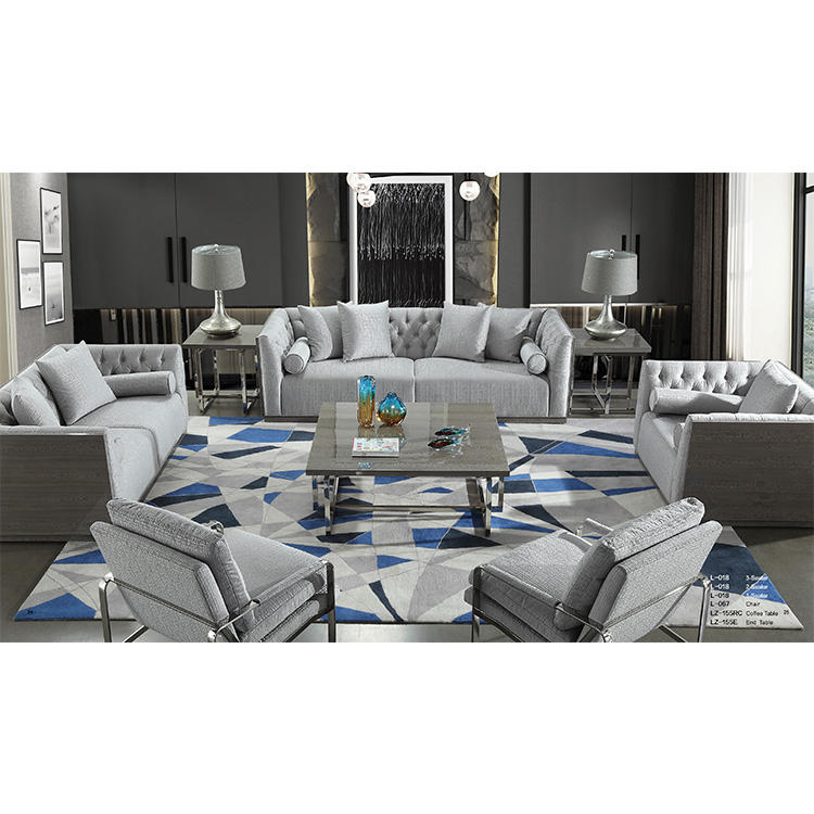 Toptan özel çağdaş pirinç beyaz kumaş mobilya kapalı salıncak kanepe