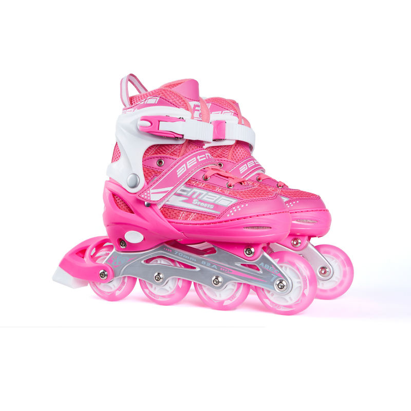 Eight-wheel full flash children's Inline adjustable roller skates Thickened aluminum alloy bracket roller skates speed