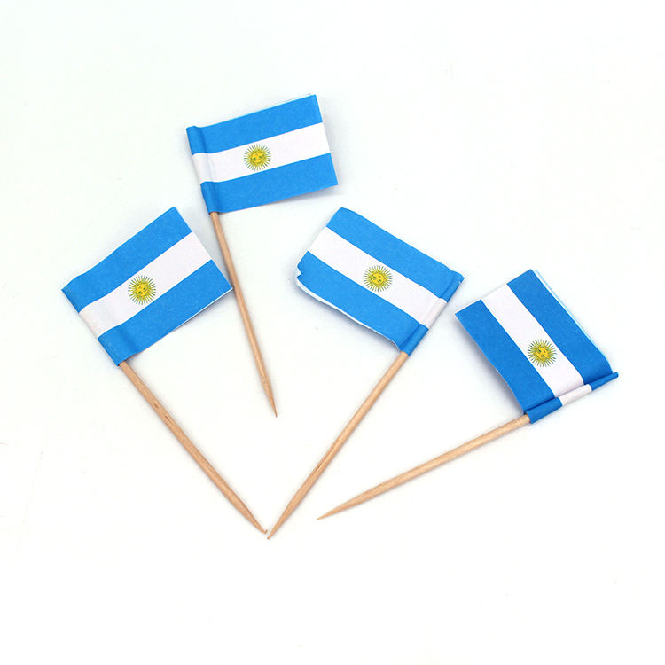 Оптовые Украшения Флаг выбор коктейль зубочистка флаг с логотипом