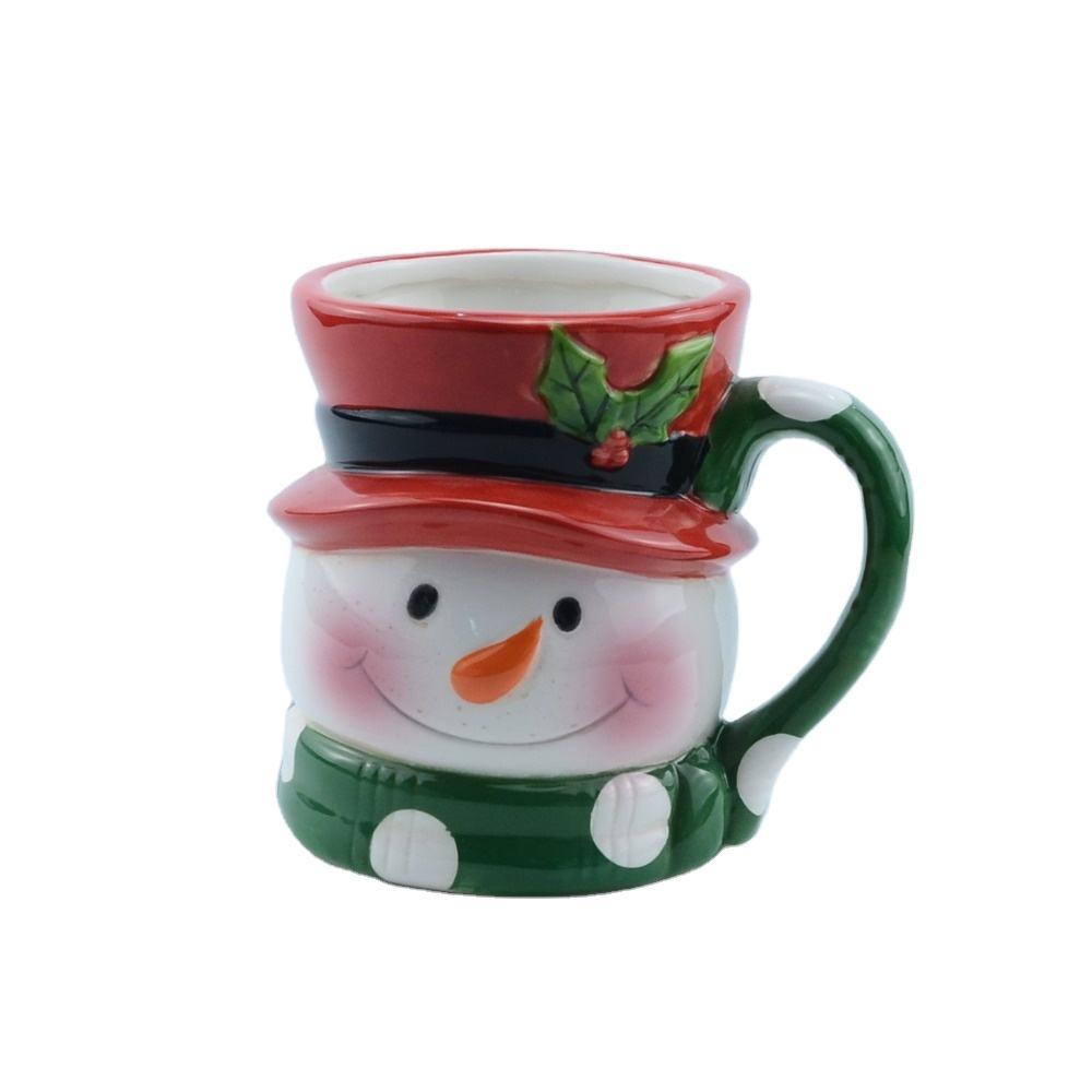 عيد الميلاد منتج جديد 2020 أفضل بيع رد الفعل القهوة <span class=keywords><strong>القدح</strong></span> شعار سيراميك مصقول