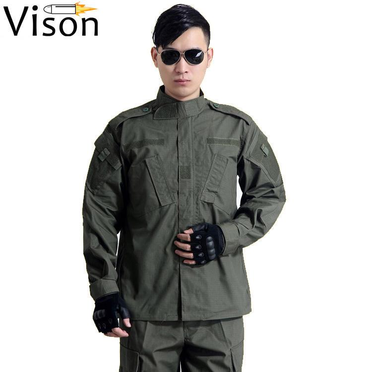 Militar тактико армейский зеленый <span class=keywords><strong>4</strong></span> кармана BDU Костюмы Мужская тактическая одежда военная форма