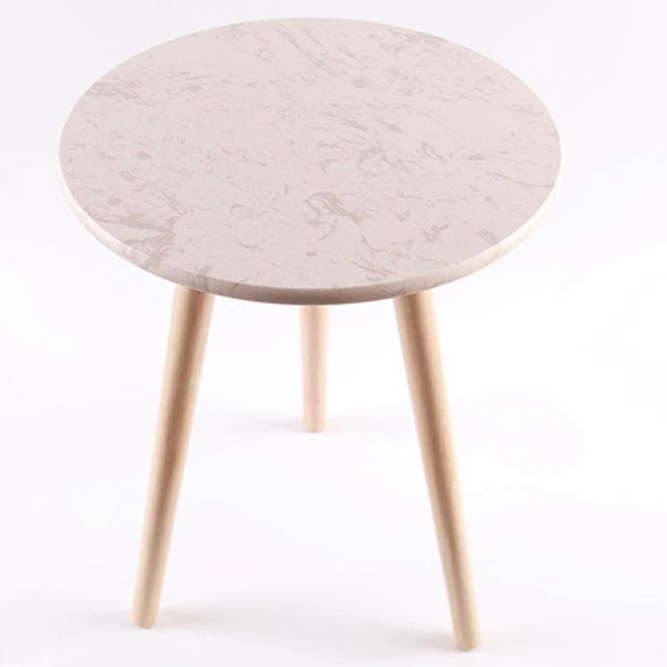 Estilo nórdico de madera maciza <span class=keywords><strong>muebles</strong></span> de mármol de la Bahía ventana redonda de mesa de café