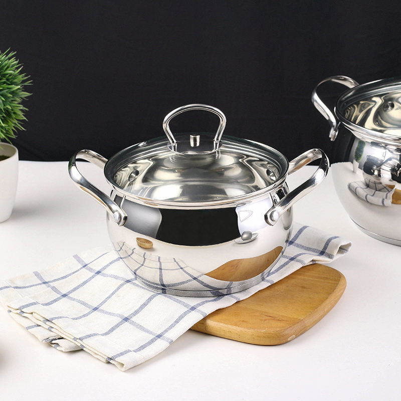 Thicker Material Strong And Durable Sd-C210 Kitchen Basin Cooking Pots Stainless Steel Sets And Pans