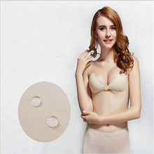 Top Quality Invisible Sexy Push Up Bra Front Closure Self-Adhesive Silicone Seamless Bra