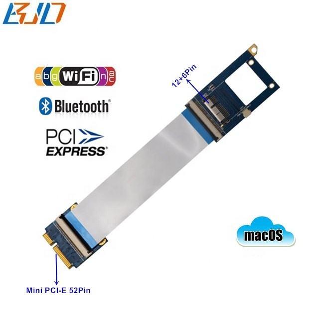 BCM94360CD Wifi BT модуль адаптер для Mini PCIe 52Pin MPCIe удлинитель гибкий кабель для Mac OS Hackintosh