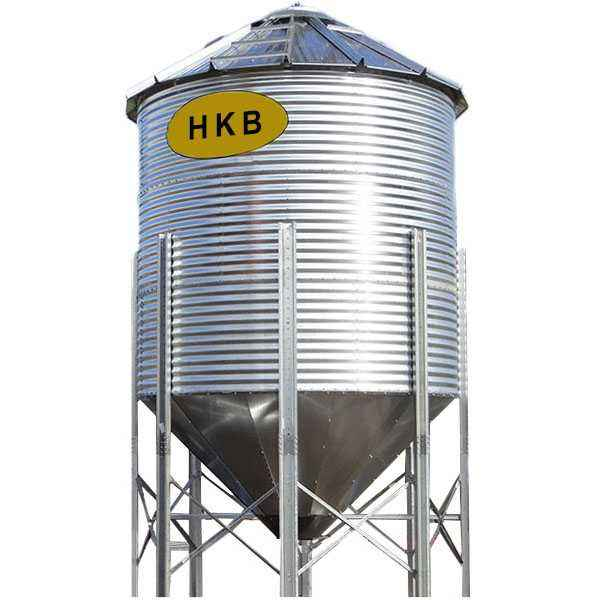Corrugated Steel Silo 50/500/5000 Tons Grain Storage silo for Cereal Sawdust