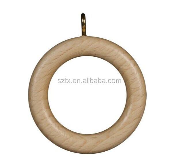 28mm china holz gardinenringe für Header abgeklebt vorhänge