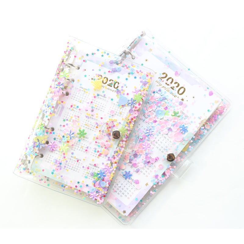 Hot sale nute transparent PVC note book cover for spiral planner notebooks
