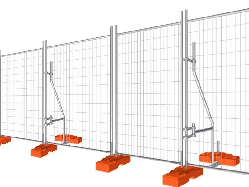 Offre Spéciale 60x150mm galvanisé Ou PVC Enduit Clôture Temporaire Pour La Construction