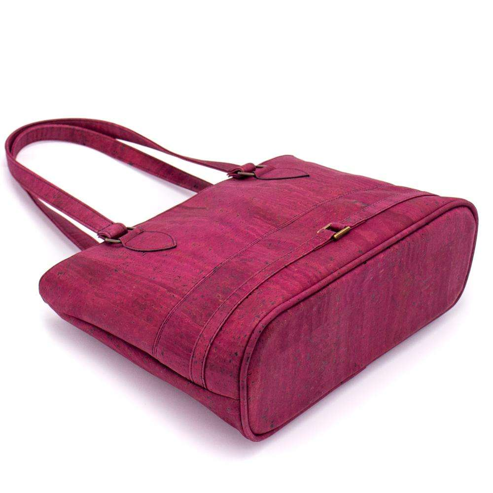 Navy blue and wine red cork girls handbag BAGP-008