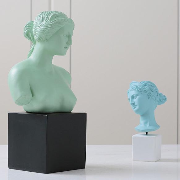 Nordic Criativo Sala de visitas Home Decoração Resina Venus Escultura do Busto