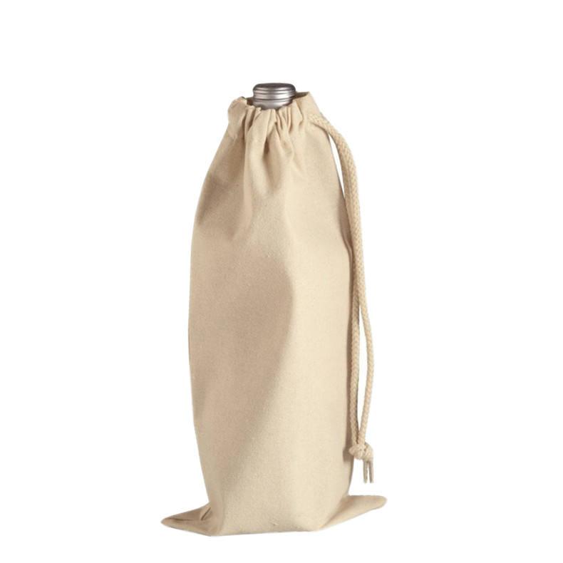 Carrier bottiglia regalo di logo di <span class=keywords><strong>cotone</strong></span> tote della tela di canapa sacchetto del vino