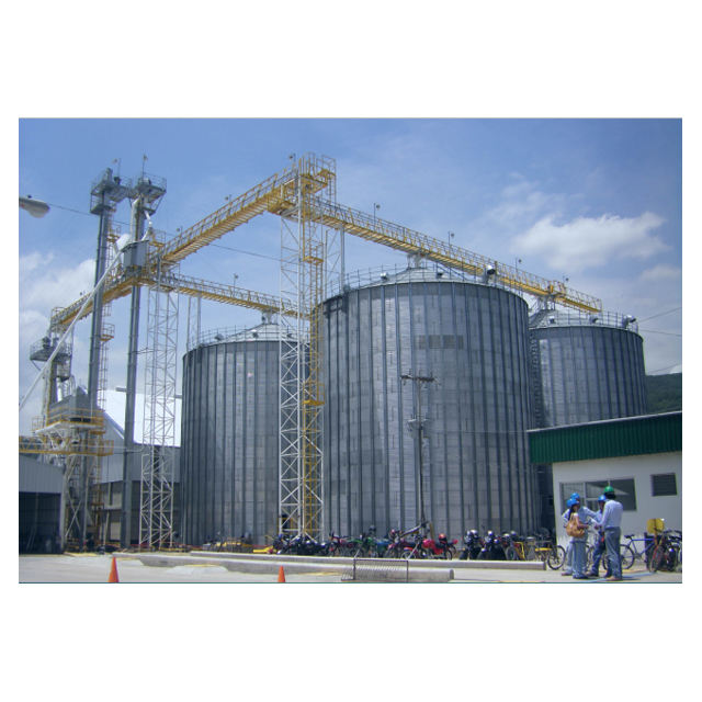 Hot Sale 8000t Wheat Corn Storage Flat Bottom Corrugated Grain Silo