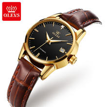 OLVES  2020 New Sport leather band  luxury brand automatic movement mechanical watch women