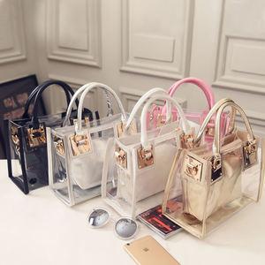 In Bulk 2021 Best Selling Laser Clear Purses Sets Fashion Transparent Handbag Women PVC Holographic Jelly Purses Handbags In Bulk