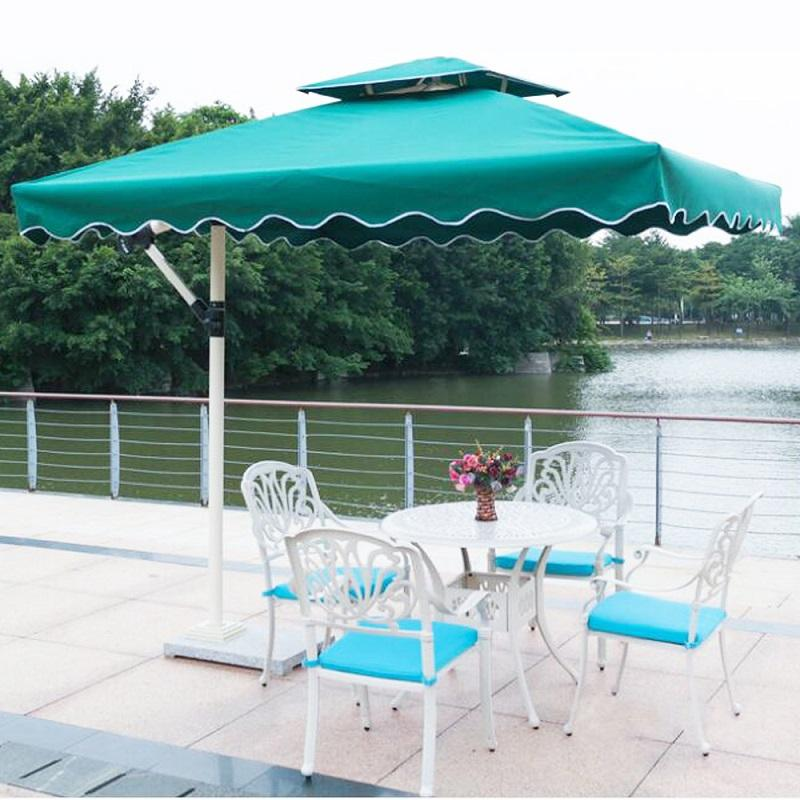 Stand Sideway Cantilever Outdoor Patio Umbrella cafe teahouse square sunshade wedding parasol