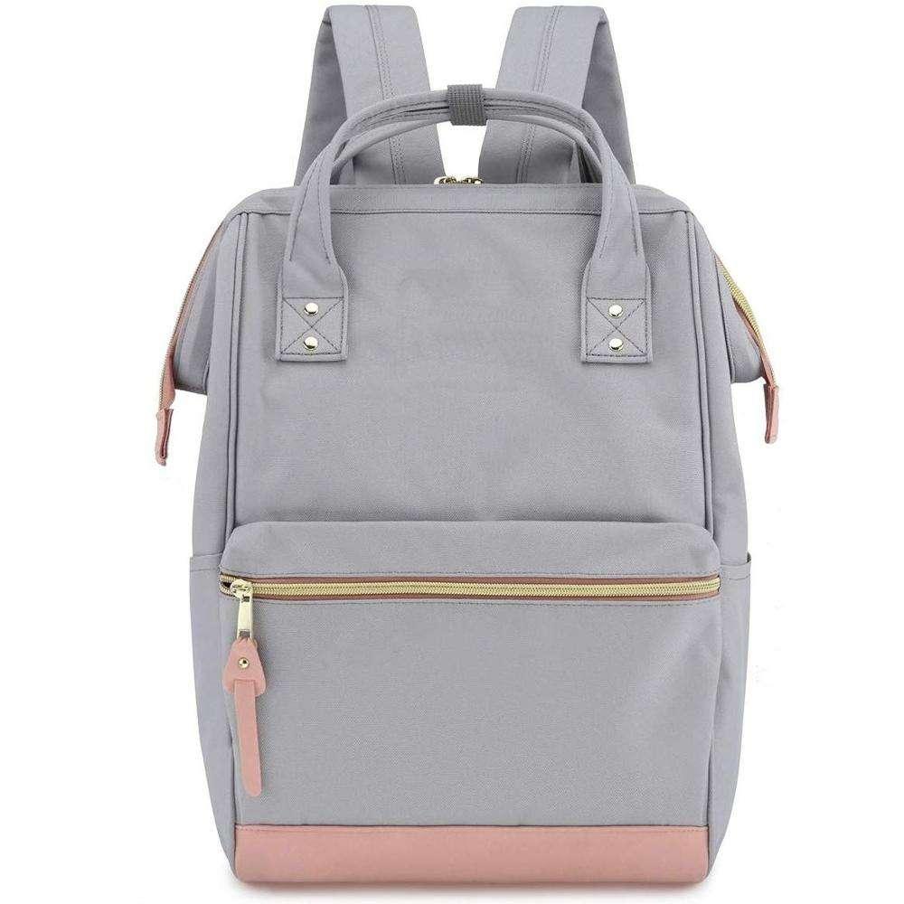 عينة مجانية حقيبة المدرسة السفر مع منفذ شحن USB 15.6 بوصة حقيبة عمل الطبيب للنساء والرجال طلاب الجامعات