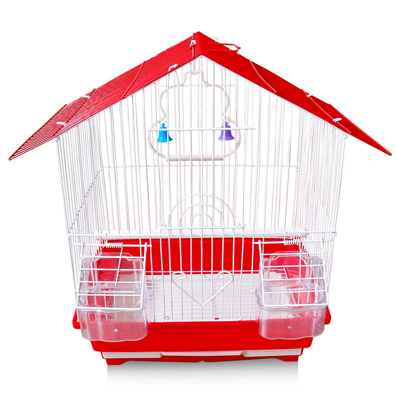 Travel Wrought Iron Small Flight Bird Cage for Green Cheek Conures Pigeons Small Parrot Birdcage