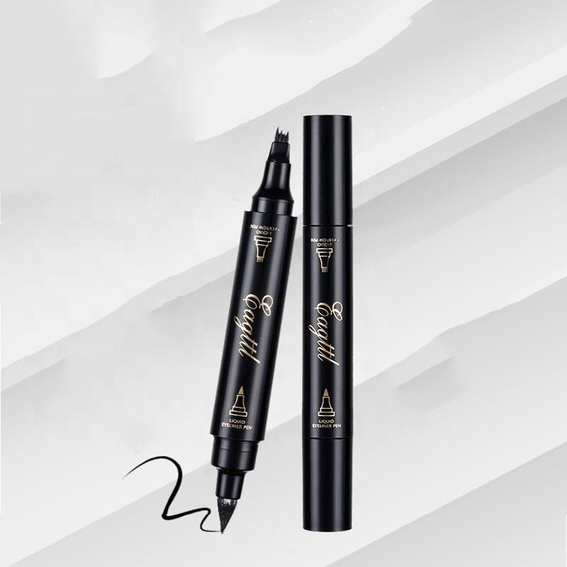 قلم حواجب جديد مضاد للعرق مضاد للماء ، بدون ماكياج ، قلم حواجب بأربعة رؤوس يعتمد على الماء