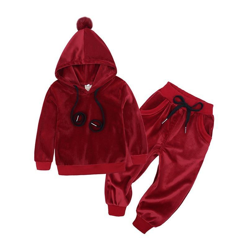 المألوف <span class=keywords><strong>سمكا</strong></span> أطقم ملابس أولاد الخريف الشتاء الدافئة سحاب البدلة الرياضية ملابس وأحذية أطفال مجموعات