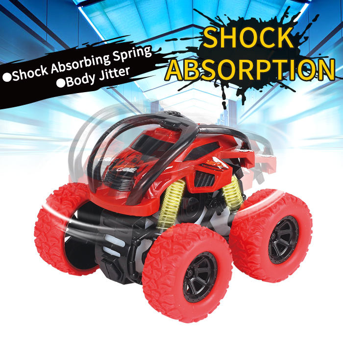 Mini Plastic 360 Rotating Friction Powered Off-Road Vehicle Big Wheel Trucks Toy Car